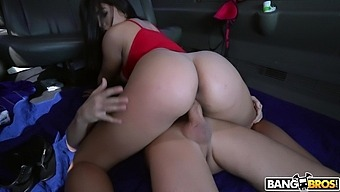 Passionate fucking in the back of the van with Latina Julz Gotti