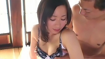 Small tits Japanese chick moans during wild fucking on the bed