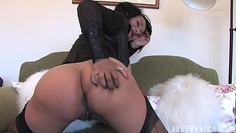 Homemade solo video of busty wife Danica Collins having some fun