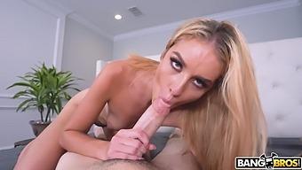 POV video of small tits sweetie Mazzy Grace having wild sex