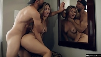 Juicy babe Addison Lee fucks with such passion and she loves amazon position