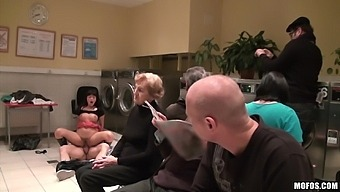 Hardcore fucking on the floor in public with filthy GF Ava Dalush