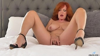 Special XXX solo porn by a top mature in flaming lingerie