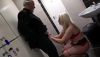 Sexy Catherine Boss talked a friend into sharing a dick with her