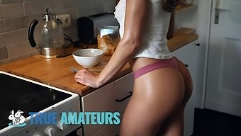 Athletic Leolulu and her Perfect Ass Gets Pounded In Kitchen - Trueamateur