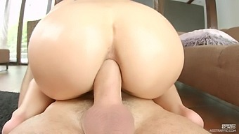 Naughty Aurelly Rebel moans loudly while getting her butt fucked