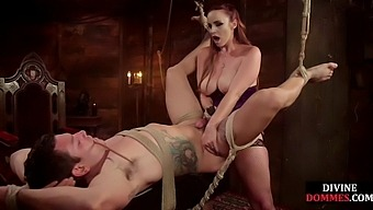 Dominant ginger bdsm sub with cbt and feet after whipping