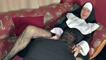 In german MILF Nun get fucked by the Minister in Church