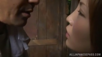 japanese people baby is fucked fucked open air until she's creampied
