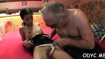 Youngster playgirl gets frank cherry popped hard by old dick