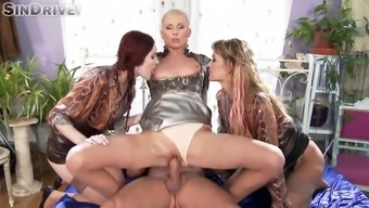 glam girls kate blonde, vanessa torment and adel daylight gets cracked