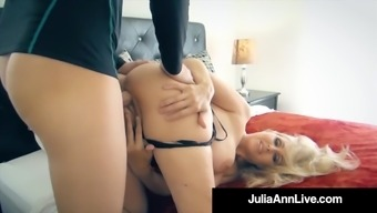 the hottest milf in adult porn julia ann pops an entire pornography rookie