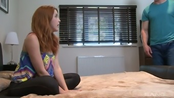 Fascinating all horny redheaded Amarna Miller normally takes strong angle profound in her slit