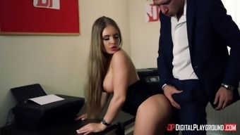Alessandra Jane cannot resist a lover's large incline