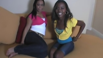 Charming Ciera And Her Ebony Pal Have An Interracial Threesome