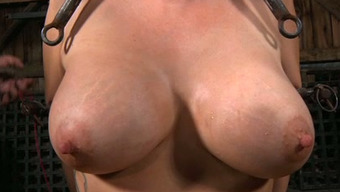 Great boobed encircled nasty person will have to suffer like she actually is in torture