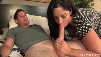 Huge-titted milf a massive penis.