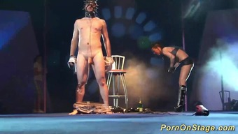 Extreme over the edge bdsm craze show on public sexfair show point in time