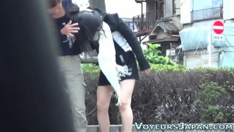 Japanese people young adult pee outside