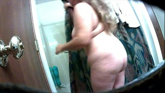Large Nipple Partner After Shower on Hidden Cam 2