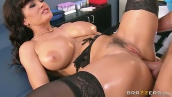 Oversexed blonde milf gets her clit fucked in pup and missionary placement