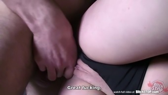 Spiteful lady Quit - Cute brunette picked up in motor vehicle stadium