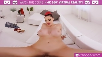 VR PORN-Busty Aletta Ocean Get Cracked And Titty Fuck Utilizing a