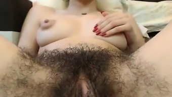 Hot Fuzzy Pussy With the use of Large Nipples On Camera