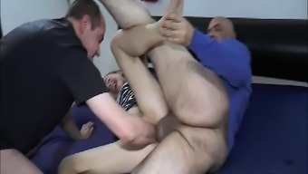 Twice fisting and fucking young adult hookers droopy pussy