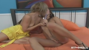 Alyssa Reece and Mia Presley like really hot sex with the use of strap-on