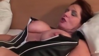 My MILF Vulnerable Beautiful beginner companion in crotchless stockings