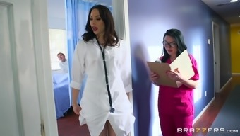 Plus size nurse Veruca defeated extreme doggystyle in ffm
