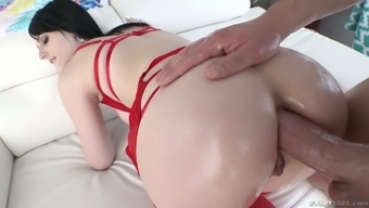 throat gagging BJ sitting ends up with muggy analfuck by using flawed Alex Harper