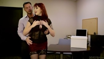 Attractive red colored haired home Tawny Ivy aids her person-in-charge to get rid of anxiety