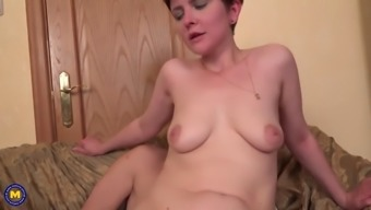 Mother ania gets wild anal sex from son