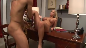 Fascinating Alanah Rae touching and using on big penis