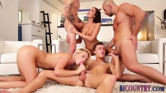 Money manager dudes fuck during orgy
