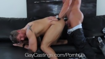 High definition GayCastings - Toned south texas lad fucked on chosing divan