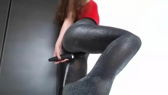Sizzling Stupid ass And Pussy Vibrating In Panty Hose