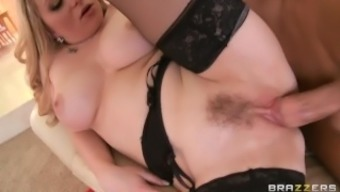 Beautiful blond MILF Aiden Starr makes her son-in-law to hack