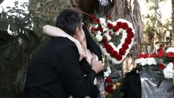 Widower fucks malicious and love-making ravenous Marley Brinx right at the burial ceremony