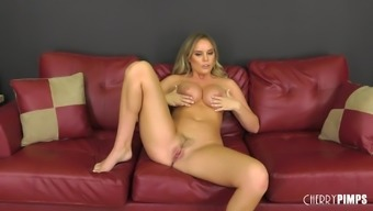 Nothing makes Alexis Adams pleased like bumping upon the settee