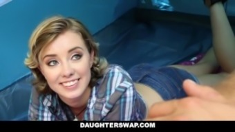 DaughterSwap- Horny Girl siblings Fuck Dads on Camping out Voyage