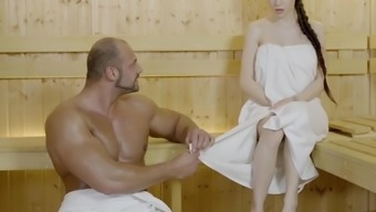 LETSDOEIT - Angel Rush Gets All Wet With a Muscular Guy At The Sauna